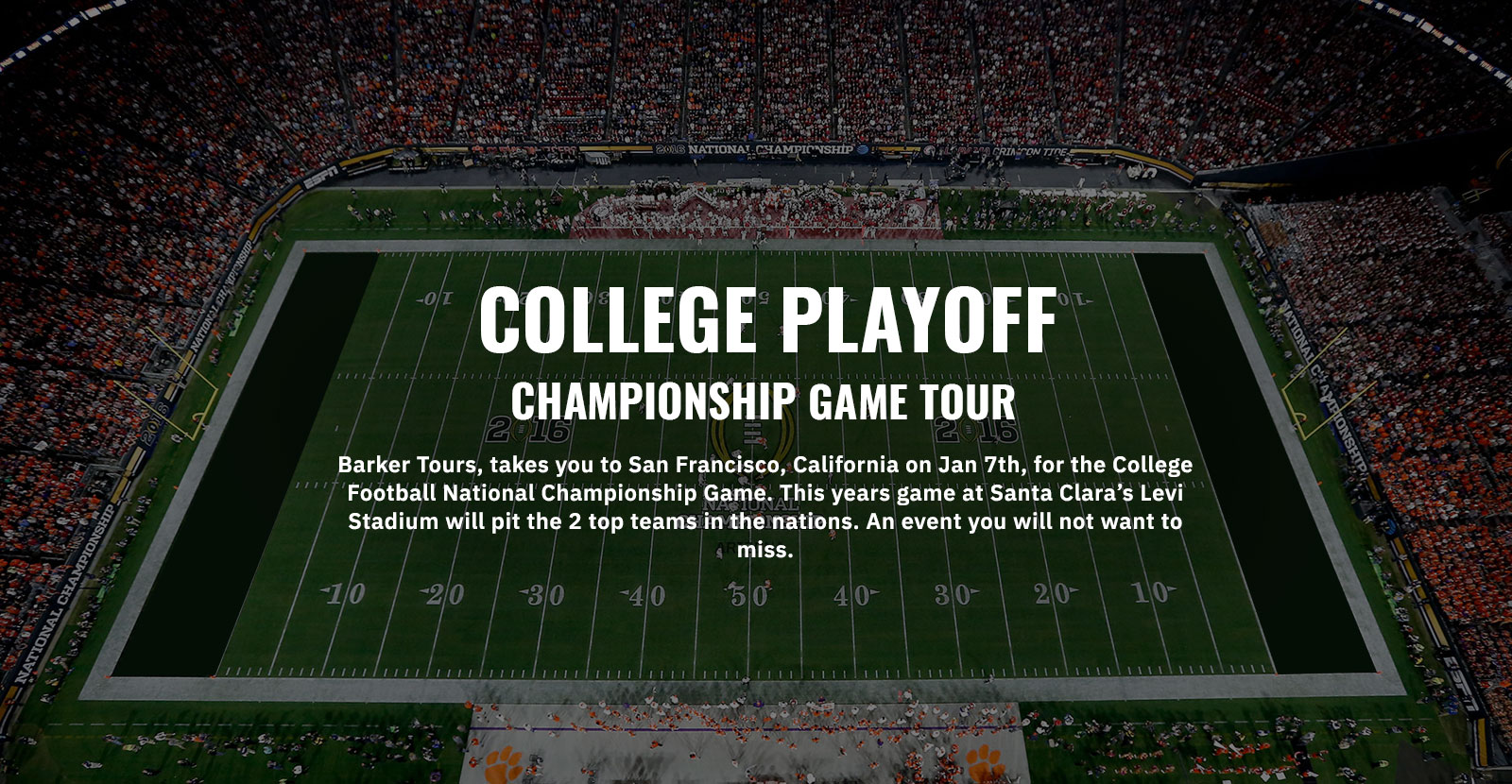 College Bowl Game Tours